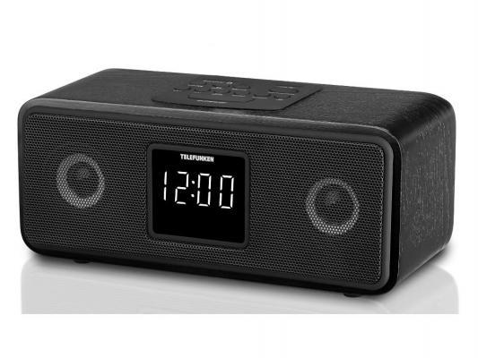 Часы с радиоприемником Telefunken TF-1567U черный белая индикация