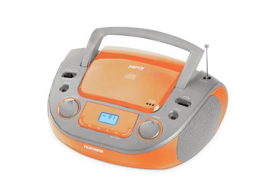 Магнитола Telefunken TF-CSRP3481 оранжевый