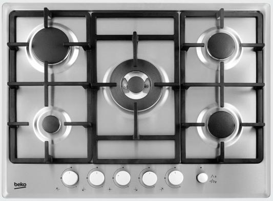 Варочная панель газовая Beko HIMW 75235 SX серебристый