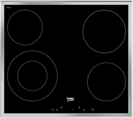 Варочная панель электрическая Beko HIC 64402 X черный варочная панель электрическая beko hic 64404 t черный
