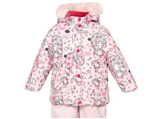 Куртка Huppa Cathy Розовая с котятами полиэстер с капюшоном 74 см 1676BH14-403-074 куртка huppa 1676bh14 р 74 80 см фиолетовый