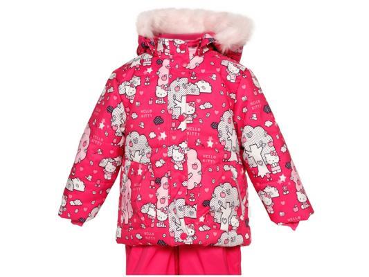 Куртка Huppa Cathy розовая с котятами полиэстер с капюшоном 74 см 1676BH14-463-074 куртка huppa 1676bh14 р 74 80 см фиолетовый