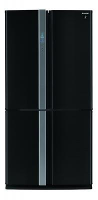 Холодильник Side by Side Sharp SJFP97VBK черный холодильник side by side samsung rs 552 nrua9m wt