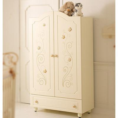 Шкаф двустворчатый Baby Expert Perla (крем/золото)