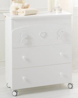 Комод пеленальный с ванночкой Baby Expert Primo Amore (белый)