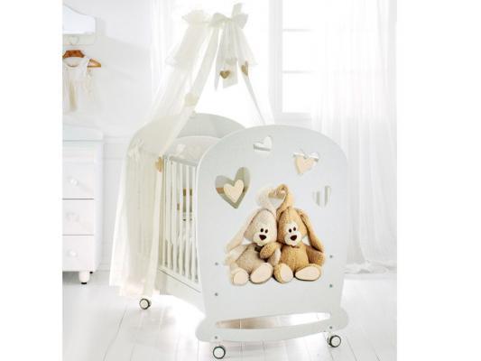 Кроватка-качалка Baby Expert Cremino (белый)