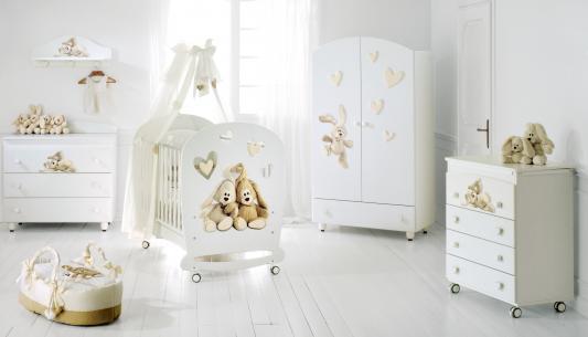 Кроватка-качалка Baby Expert Cremino (белый) (baby expert)
