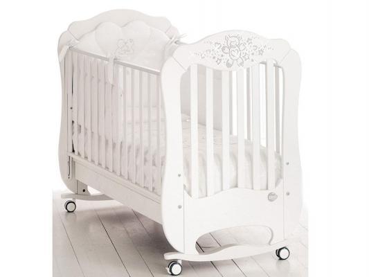 Кроватка-качалка Baby Expert Diamante (белый)