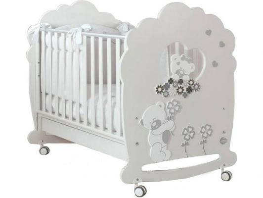 Купить Кроватка-качалка Baby Expert Serenata (белый), бук, Кроватки-качалки
