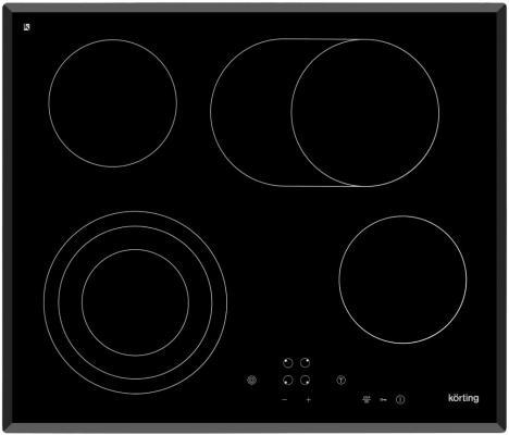 Стеклокерамическая варочная панель Korting HK 6305 B независимая сенсорное управление черный варочная панель korting hk 6305 x