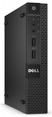 Системный блок DELL Optiplex 9020 Micro i7-4785T 2.2GHz 8Gb 500Gb HD4600 DVD-RW Linux клавиатура мышь черный 9020-7603