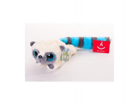 Мягкая игрушка Aurora Юху лежачий плюш синтепон голубой 16 см 092943655010
