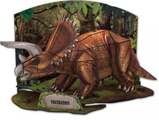 Пазл 3D CubicFun Эра Динозавров Трицератопс 41 элемент PP669h