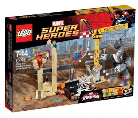 Конструктор Lego Super Heroes: Носорог и Песочный человек против Супергероев 386 элементов
