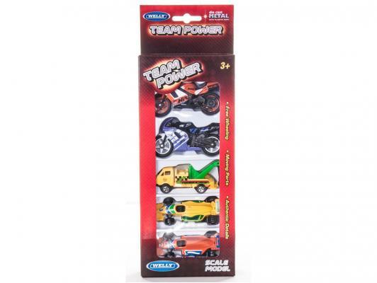 Набор Welly из пяти машин разноцветный 4891761750664
