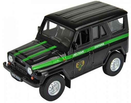 Автомобиль Welly УАЗ 31514 Лесная Охрана 1:34-39 черный 4891761238094 автомобиль welly уаз 31514 военная автоинспекция 1 34 39 зеленый 4891761238070