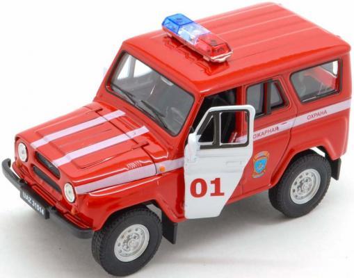 Пожарная охрана Welly УАЗ 31514 1:34-39 красный 4891761238087 автомобиль welly уаз 31514 военная автоинспекция 1 34 39 зеленый 4891761238070