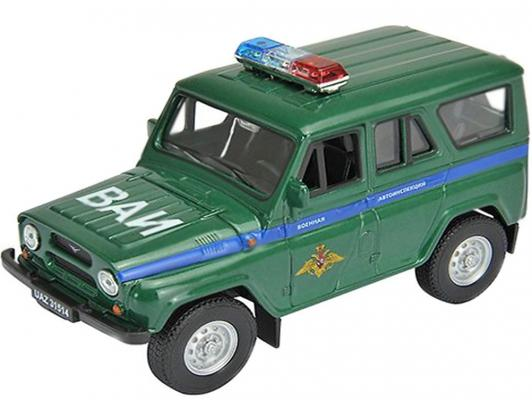 Автомобиль Welly УАЗ 31514 Военная Автоинспекция 1:34-39 зеленый 4891761238070 машинки autotime машина uaz 31514 ваи