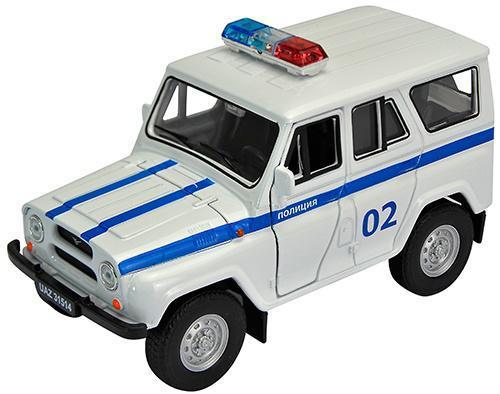Полиция Welly УАЗ 31514 1:34-39 белый 4891761238063 welly модель машины уаз 31514 милиция welly