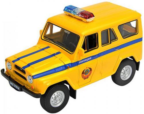 Автомобиль Welly УАЗ 31514 Милиция 1:34-39 желтый 4891761238056 welly модель машины уаз 31514 милиция welly