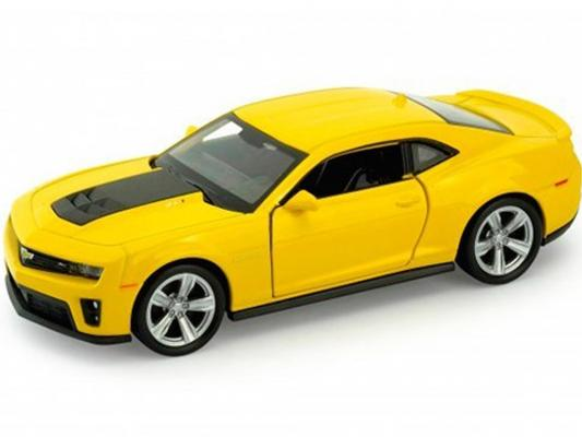 Автомобиль Welly Chevrolet Camaro ZL1 1:34-39 желтый 4891761136673 автомобиль welly газель такси 1 34 39 желтый 42387ati