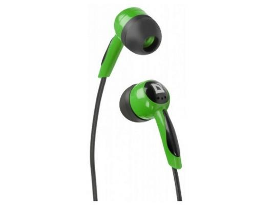 Наушники Defender Basic-604 черно-зеленый 63607