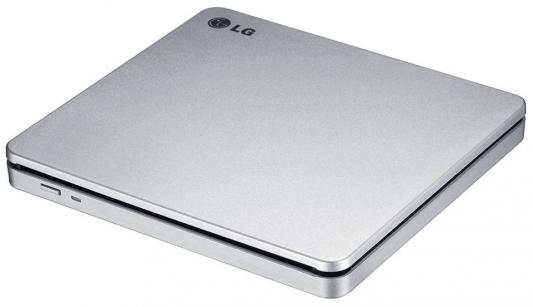 Внешний привод DVD±RW LG GP70NS50 USB 2.0 серебристый Retail внешний привод dvd±rw lg gp70ns50 usb 2 0 серебристый retail