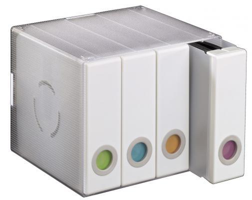 Коробка HAMA Album Box для 96 CD/DVD пластик прозрачный/белый H-96104 1шт белый пластик пинцет инструмент для предохранителей бусины hama бисер diy головоломки сафти для детей ремесла