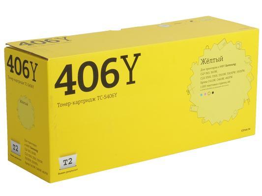Картридж T2 TC-S406Y для для Samsung CLP-365/365W/CLX-3300/3305/3305W/3305FW/3305FN/Xpress C410W/C460W/460FW 1000стр Желтый