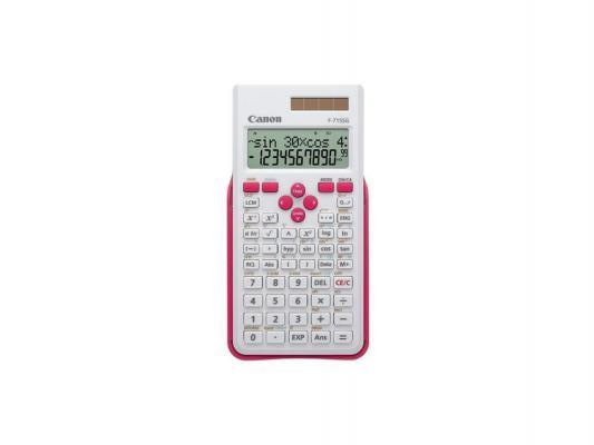 Калькулятор Canon F-715SG-WHM 12 разрядов двойное питание бело-розовый