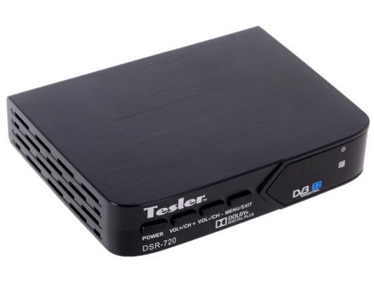 Тюнер цифровой DVB-T2 TESLER DSR-720 тюнер цифровой dvb t2 tesler dsr 720