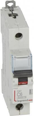 Автоматический выключатель Legrand DX3 6000 10кА тип C 1П 6А 407666 выключатель автоматический tdm ва47 100 4р 50а 10ка с sq0207 0085