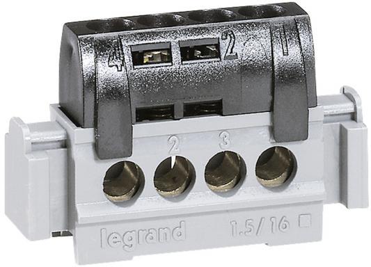 Клеммная колодка Legrand 4х1.5-16мм /фаза 4850