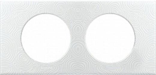 Рамка Legrand 2 поста фарфор белый 69352