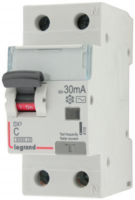 Выключатель дифференциального тока Legrand DX3 1П+Н C10А 30MA-AC 411000 узо legrand dx3 1п н c25а 30ma ac 25a 411504