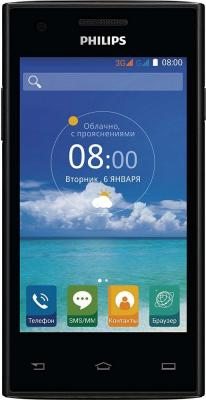 "Смартфон Philips S309 черный 4"" 4 Гб Wi-Fi GPS 8+1"
