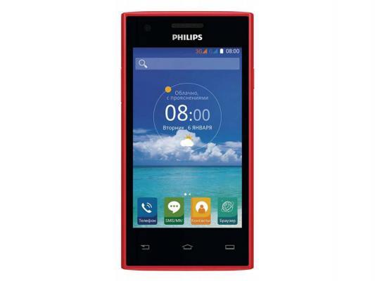"Смартфон Philips S309 красный 4"" 4 Гб Wi-Fi GPS"