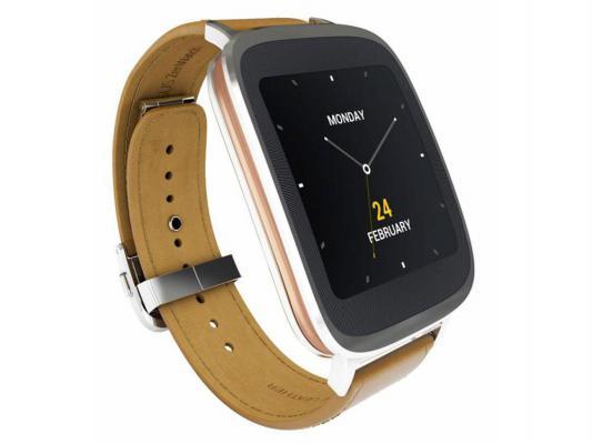 Смарт-часы ASUS ZenWatch WI500Q серебристо-коричневый