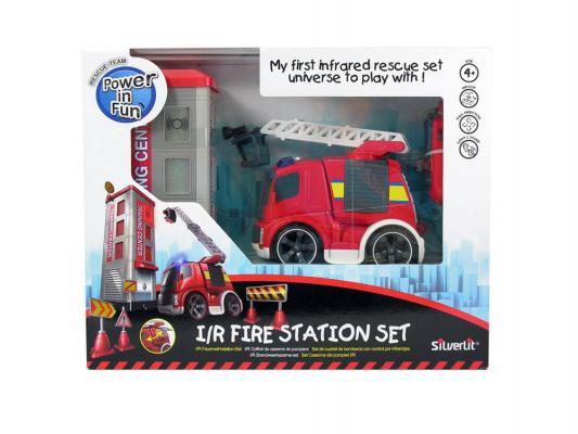 Пожарная машина на радиоуправлении Silverlit Потуши горящее здание пластик от 4 лет красный 81137