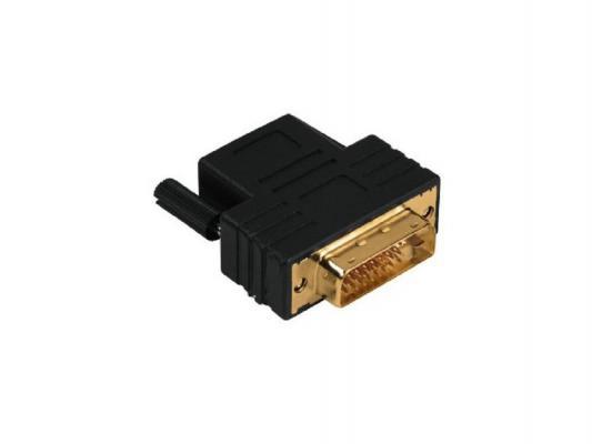 Переходник HDMI(f) - DVI/D(m) позолоченные штекеры черный Hama H-43109