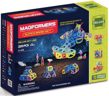 Магнитный конструктор Magformers Super Brain Up set 220 элементов 63088