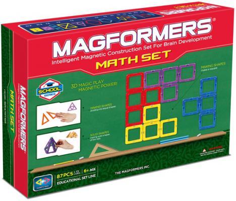 Магнитный конструктор Magformers Увлекательная математика 87 элементов 63109