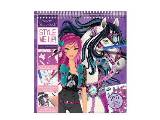Набор для творчества Style Me Up Альбом с трафаретами Модная наездница от 8 лет 1435