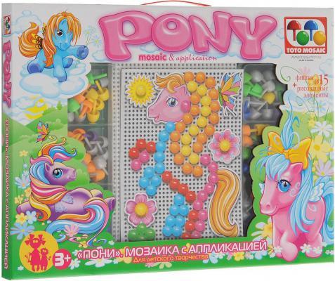 Набор для творчества ToysUnion Пони с аппликацией 90 элементов от 3 лет 00-180