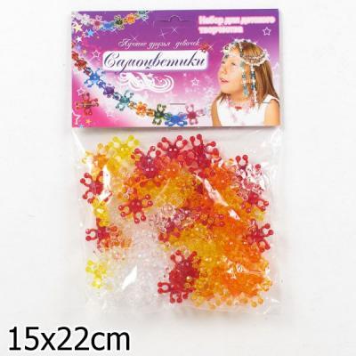 Набор для творчества Биплант Самоцветики в пакете № 1 (красный) от 3 лет 80 шт 11012 набор для творчества биплант красотка 60 шт
