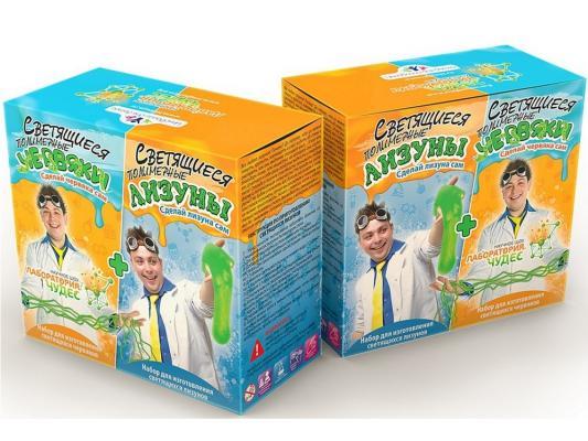 Игровой набор Инновации для детей Светящиеся червяки и лизуны 828