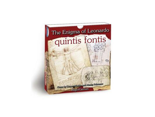 Настольная игра ПРАВИЛЬНЫЕ ИГРЫ логические Загадка леонардо. Quintis fontis 10-01-02