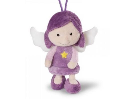 Мягкая игрушка ангелочек Nici Ангел-хранитель, с петелькой плюш фиолетовый 15 см 37330