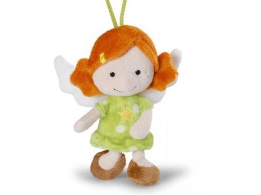 Мягкая игрушка ангелочек Nici Ангел-хранитель, с петелькой плюш зеленый 15 см 37332