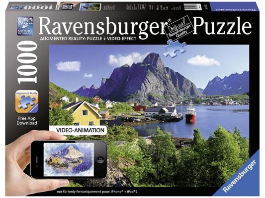 ravensburger пазл утро на таймс сквер с видео анимацией 1000 деталей Пазл Ravensburger Норвегия. Лофотенские острова с видео-анимацией 1000 элементов 19303